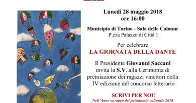 Giornata della Dante: Scrivi per noi! Torino, 28/5/2018 A Naso