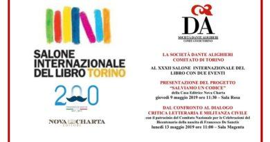 Gli appuntamenti della Dante Comitato di Torino al Salone del libro