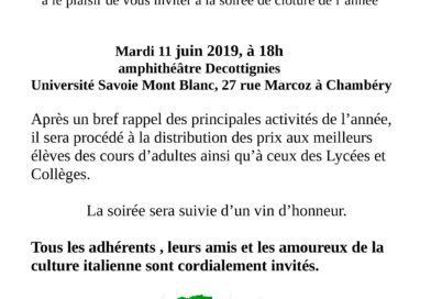 11/6/2019 iniziative del comitato Dante di Chambery