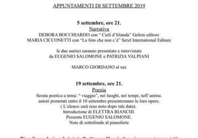 Appuntamenti Ad ARTE di settembre