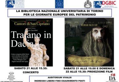 21-22/9/2019 Giornate Europee del Patrimonio – Biblioteca Nazionale di Torino