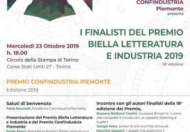 23/10/19 Finalsti Premio Biella Letteratura e Industria