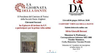 4/6/2020 Primo appuntamento con i giovedì della Dante